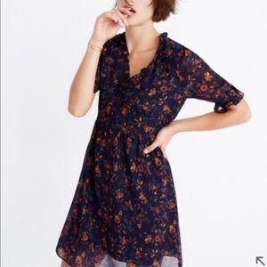 Madewell Freesia ruffle printed dress floral